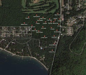 GPS pverlay with names